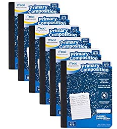 Mead Primary Composition Book, Ruled, 100 Sheets/200 Pages (09902) - 6 PACK