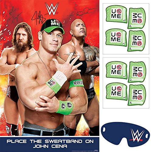 Amscan Grand Slammin' WWE Birthday Party Game (4 Piece), Multi - 1