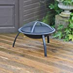 Redwood BB-CH712 Steel Fire Pit with...