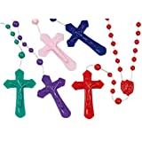 Assorted Colorful Catholic Prayer Bead Rosary, 16 Inch, Pack of 100 (Color: Assorted, Tamaño: 16 Inch)