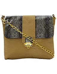 Stylocus - Ladies Lather Sling Bag-Mat Texture Bags -Leather Flap Bags