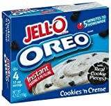 Jell-O Instant Pudding & Pie Filling, Oreo Cookies 'n Cream, 4.2-Ounce Boxes (Pack of 24)