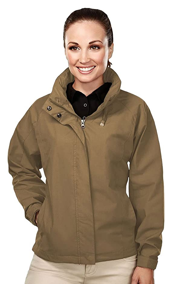 Tri-Mountain Womens cotton poly poplin jacket with mesh lining