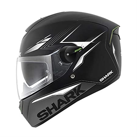 210HE5411UKSWXL - Shark SKWAL Matador Motorcycle Helmet XL Matt Black Silver White (KSW)