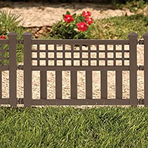 Suncast GVF24B Grand View Fence Bronze Outdoor Decorative Fen