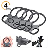 Quvivior Ar15 End Plate Slinggs Mount End Plate Slinggs Adapter 4 Pack (Color: 4 PACK, Tamaño: M)