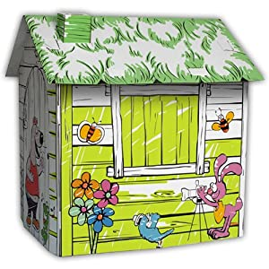 "Vortigern My Very Own ""Colour Me"" Playhouse Cardboard Wendy House"