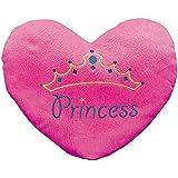 """Princess"" Heart Pillow (with the Princess Embroiding) 13 1/2"" X 11"". Plush."