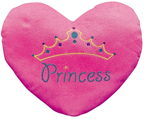 """Princess"" Heart Pillow (with the Princess Embroiding) 13 1/2"" X 11"". Plush."