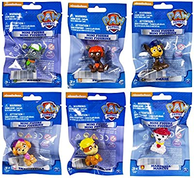 Paw Patrol Mini Figures Set of 6 - Rocky, Zuma, Skye, Rubble, Marshall & Chase by Paw Patrol