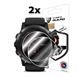 IPG for Garmin Fenix 5X Plus (51MM) (2X) Smartwatch Screen Protector Invisible Ultra HD Clear Film Anti Scratch Skin Guard - Smooth/Self-Healing/Bubble -Free (Color: Clear)