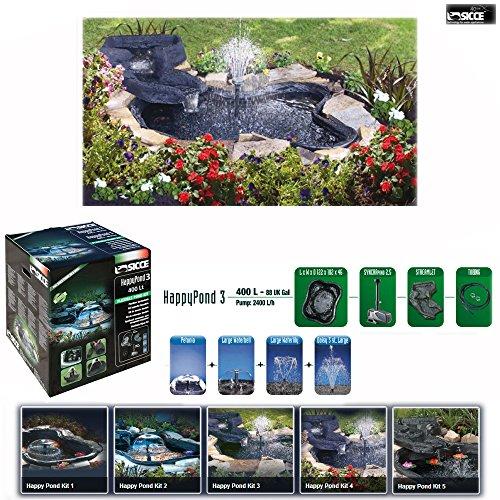 Sicce 950081 Kit Happy Pond 3, Laghetto per Giardino 400 L
