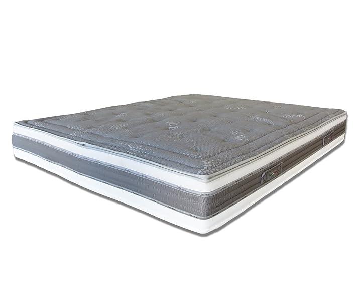 Materasso Silver Grey 120 x 200 cm Baldiflex - Cus. Saponetta Incl. Aloe Vera