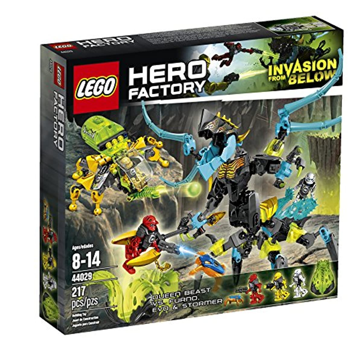 [해외] LEGO HERO FACTORY QUEEN BEAST VS. FURNO, EVO AND STORMER 44029 BUILDING SET-6059002