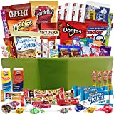 Catered Cravings Care Package Gift Basket with 52 Sweet and Salty Snacks