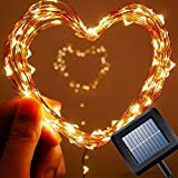 25ft 150 LED Amir® Starry Solar String Lights Copper Wire Ambiance Lighting for Outdoor - Gardens - Homes - Christmas Party(Warm White)