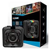 Mini Wireless Camera Action cop Cam - Cameras for Indoor or Outdoor Surveillance, Home Office or Car Video Recorder with 1080p HD Recording and Night Vision - 1 Cubic Inch (Color: Black)