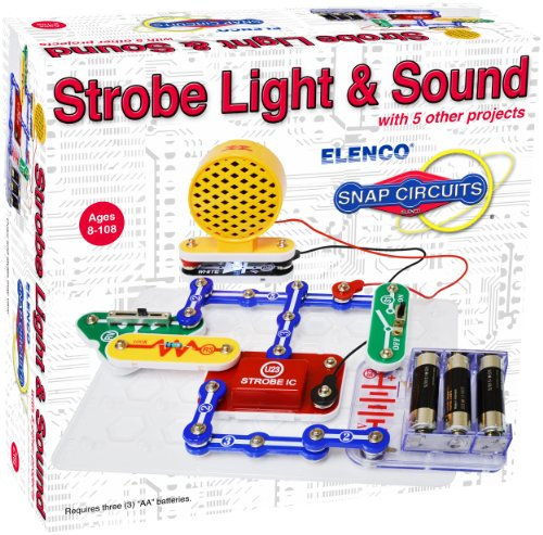 Elenco Scp-14 Snap Circuits Strobe & Sound Science Kit With Coloring Book