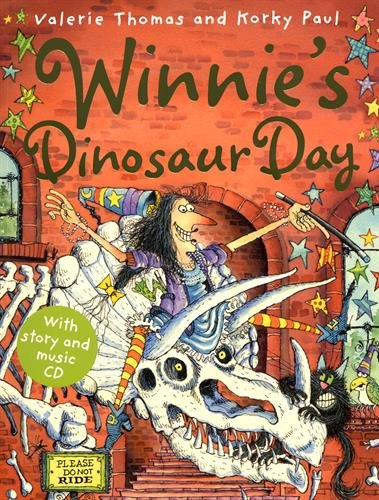 Winnie's Dinosaur Day (paperback and CD) (Winnie the Witch)