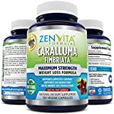 Pure Caralluma Fimbriata Extract 1000 mg - 120 Capsules, 60 Days Supply, 10:1 Extract from Whole Cactus Plant, 1000 mg Per Serving Maximum Strength Natural Weight Loss Supplement, Appetite Suppressant, Fat Burner, Carb Blocker. 100% Money Back Guarantee! No Risk - Lose Weight or Your Money Back by ZenVita Formulas ✔✔✔ Check [SPECIAL OFFERS & PRODUCT PROMOS] below for ADDITIONAL DISCOUNTS ✔✔✔