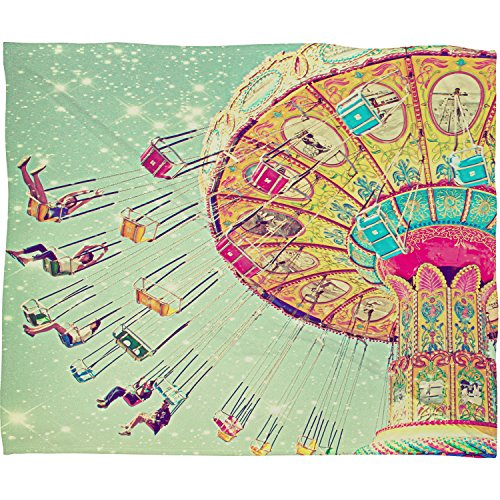 "DENY Designs Shannon Clark Fleece Throw Blanket, Swinging Through Stars, Small 40"" X 30"""