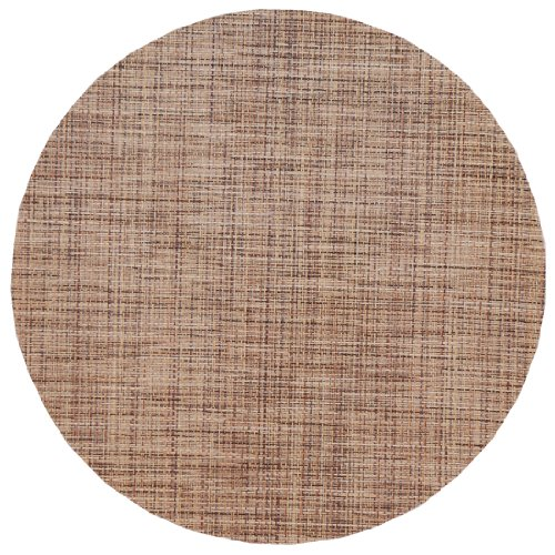Brown/Tan Wipeable Charger-Center Round Placemat front-66680