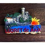 SOUVENIR 3D RESIN FRIDGE MAGNET ------ LLORET DE MAR , Spain