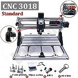 CNC 3018 Mini DIY CNC Engraving Machine 3 Axis ER11 GRBL for PCB Wood PVC Mini CNC Milling Router (Color: white, Tamaño: 30X18 MINI)