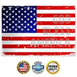 ZENDORI ART 'God Bless America' USA Flag Wall Art - Made in USA