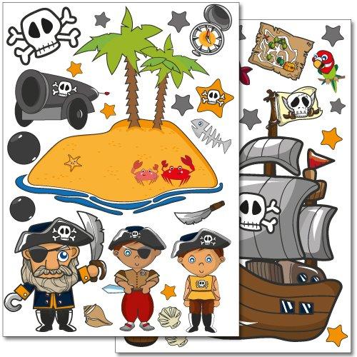 adesivi-da-parete-wandkings-pirati-alla-ricerca-del-tesoro-set-adesivi-50-adesivi-su-2-fogli-din-a4
