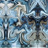 Hydrographics Film - Water Transfer Printing - Hydro Dipping -Blue Oil Slick- 1 Meter (Tamaño: 19