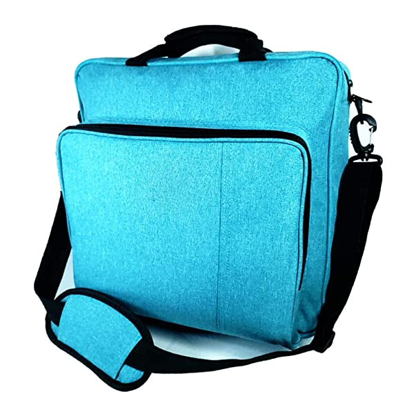 PS4 Pro Carrying Case, Blue PS4 Travel Case for Games, Laptop, Ps4, Ps4 Pro, Ps4 Slim, Ps3, Travel Bag for Ps4 Game Accessories Controller Storage (Color: Blue, Tamaño: large)