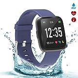 BingoFit Fitness Tracker Legend Smart Watch Activity Tracker 1.3'' IPS Color Screen Health Watch IP67 Waterproof Fitness Watch HR BP Oxygen Sleep Monitor, Pedometer Watch for Women Men Kids(Blue) (Color: Blue)