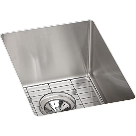 "Revere RVRU12179 12"" x 17"" Single Bowl Stainless Steel Squared Undermount Kitchen Sink"