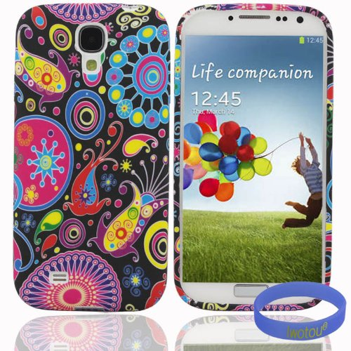 Iwotou Fashion Series - Colorful World Flexible TPU Gel Case Cover for Samsung Galaxy S4 i9500 + Free Accessories