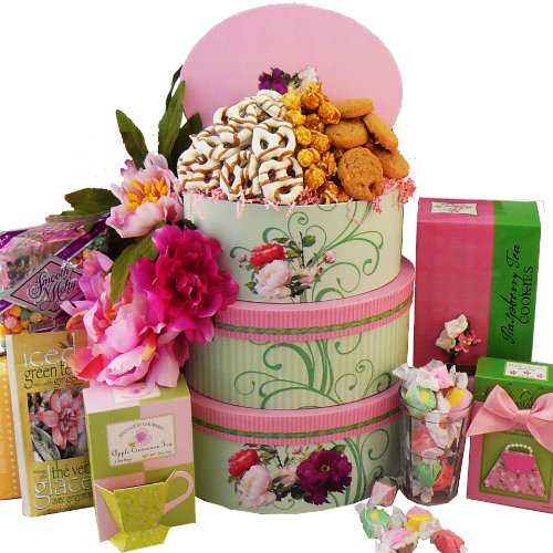 SCHEDULE YOUR DELIVERY DAY Fanciful Gourmet Food Gift Tower - A Great Gift Basket Idea for Mom!