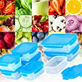 Food Storage Containers BPA Free Airtight - Keep Food Fresh and Safe - Leakproof Microwavable Plastic Set of 8 - Elacra