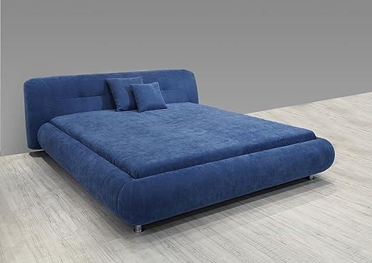 Dreams4Home Polsterbett Eloro, ohne Matratze Bettgestell, Bett, 140x200 160x200 o. 180x200 cm, blau, Liegefläche:140x200 cm