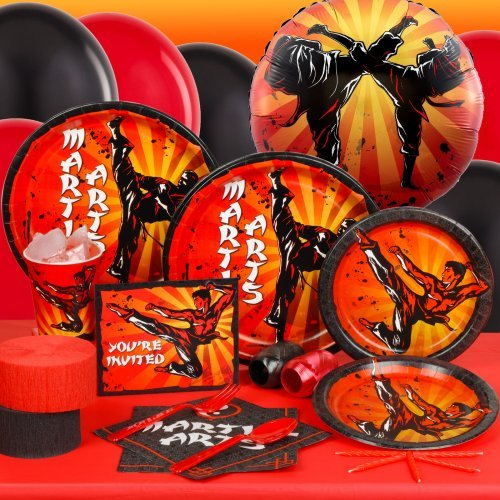 Martial Arts Standard Party Pack for 16 Party Supplies