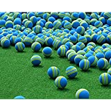Awakingdemi 50pcs Rainbow Stripe FOAM Sponge Golf Balls Swing Indoor Practice Training Aids Ball Light-weight
