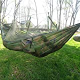 SmartLife Portable Single-person Mosquito Net Hammock Hanging Bed for Travel Camping Camouflage