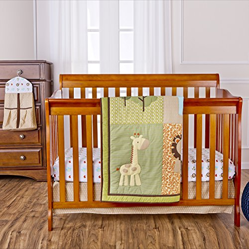 Dream On Me Safari Animals 5 Piece Reversible Full Size Crib Set - 1