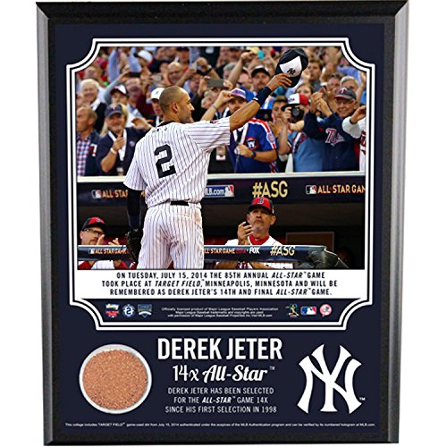 Derek Jeter 14 Time All Star 8X10 Plaque With Dirt From Target Field front-986090