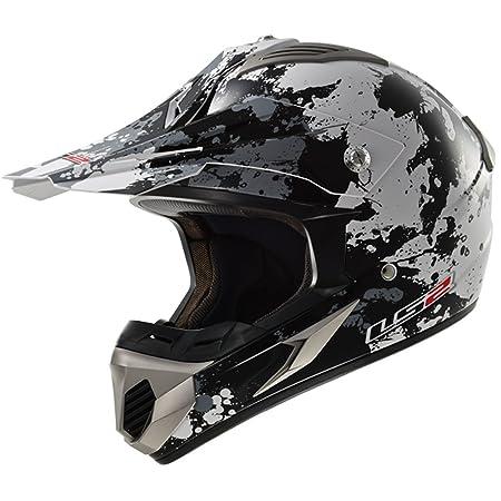 LS2 Casque de moto Mx433 Blast titane noir blanc