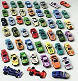50 PC Race Car Set - Metal Plastic Die Cast Cars