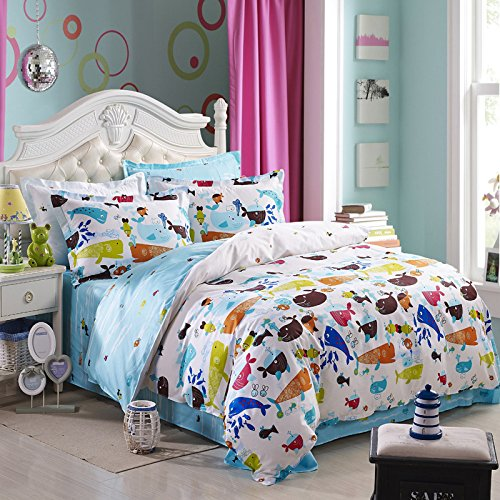Aquarium Light Blue Duvet Cover Set 2014 Modern Bedding front-655377