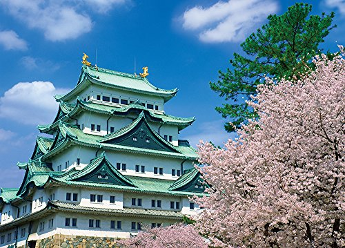 500ピース ジグソーパズル Simple Style 名古屋城 桜の季節(愛知) (38x53cm)