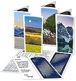 MoonBeams Vistas, Mountain Greeting Cards Assortment (lunar calendar 2016 inside), 8 set