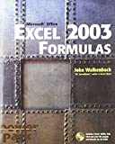 Excel 2003 Formulas (0764540734) by Walkenbach, John