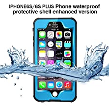 buy Ianko【Ip68 Qualify】Light Weight Ultra Silm Durable Full Sealed Dot-Pro Waterproof Case With Touched Transparent Screen Protector For Apple Iphone 6 & Iphone 6S 4.7 Inch (Light Blue)